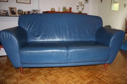 Софа 2 синяя известного мирового бренда  купить в интернет магазине kamin.cn.ua по цене 7 015.00 Євро с доставкой по Украине