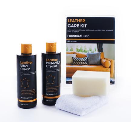 Набор для ухода за кожей (Leather Care Kit) известного мирового бренда Furniture clinic купить в интернет магазине kamin.cn.ua по цене 825.00 Євро с доставкой по Украине